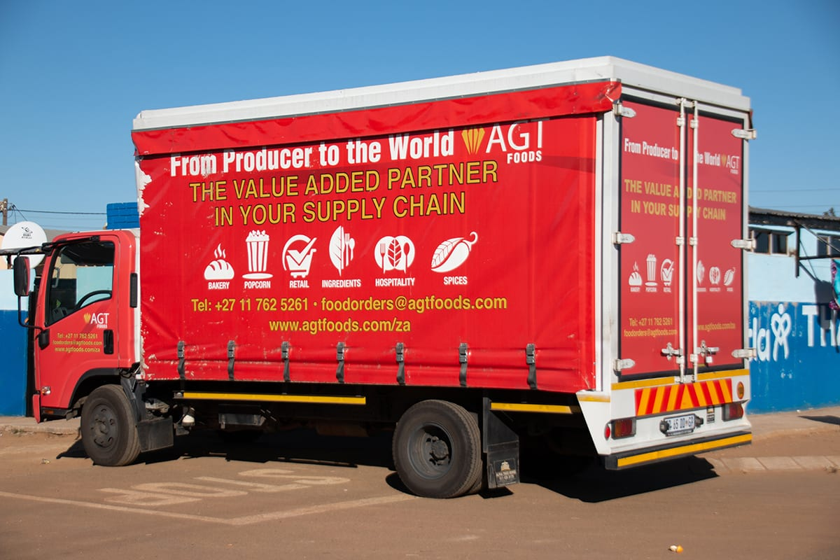 AGT Foods delivers food to Thato KeMatla orphanage.